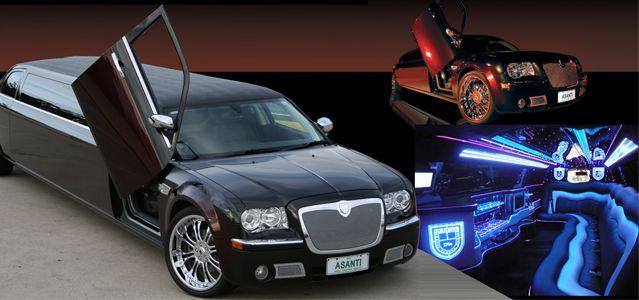 Black & Brand Chrysler 300C 11 Passenger Limousine.jpg
